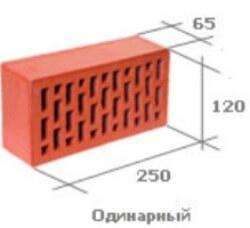 Кирпич одинарный стандартного формата (NF)