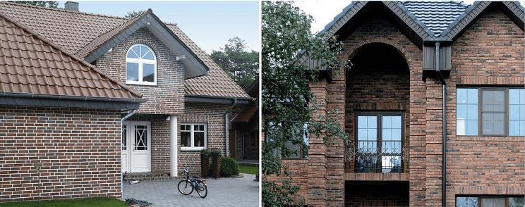 Дом и декоративная художественная кладка кирпича
